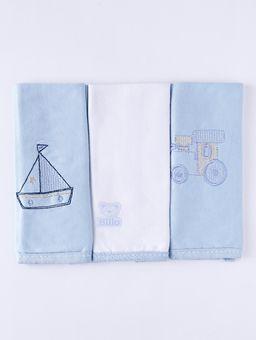 Kit-de-Babetes-Infantil-para-Bebe---Azul