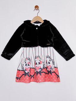 Vestido-com-Bolero-Infantil-para-Menina---Preto-vermelho
