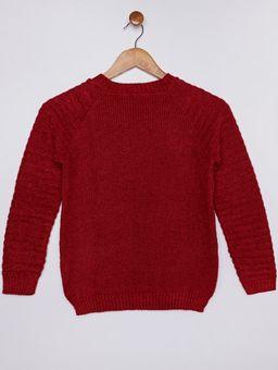 Blusao-Tricot-Gola-Redonda-Infantil-para-Menina---Vermelho