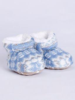 Pantufa-Botinha-Infantil-para-Bebe-Menina---Azul