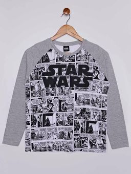 Camiseta-Manga-Longa-Star-Wars-Juvenil-Para-Menino---Branco-cinza-16