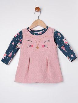 Vestido-com-Blusa-Infantil-para-Bebe-Menina---Rosa-verde