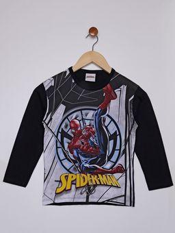Camiseta-Manga-Longa-Spiderman-Infantil-Para-Menino---Preto-cinza-6