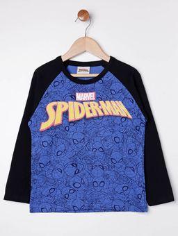 Camiseta-Homem-Aranha-Manga-Longa-Infantil-para-Menino---Azul