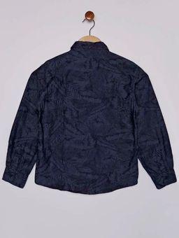 Camisa-Jeans-Floral-Manga-Longa-Juvenil-para-Menino---Azul