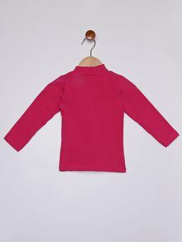 Blusa-Gola-Alta-Manga-Longa-Infantil-para-Menina---Rosa-Pink