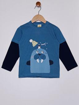 Camiseta-Manga-Longa-com-Estampa-Infantil-Para-Menino---Azul-1