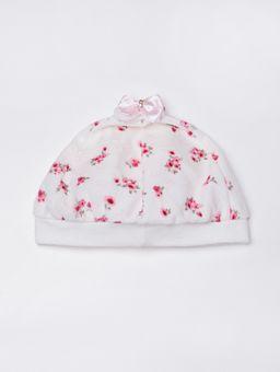 Vestido-Plush-com-Boina-Infantil-Para-Bebe-Menina---Rosa-P