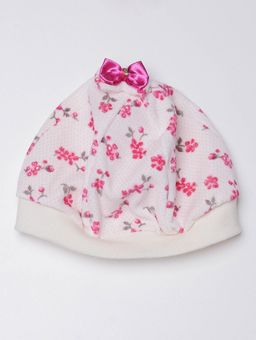 Vestido-Plush-com-Boina-Infantil-Para-Bebe-Menina---Rosa-Pink-P