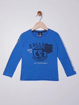 Camiseta-com-Bolso-Manga-Longa-Infantil-para-Menino---Azul