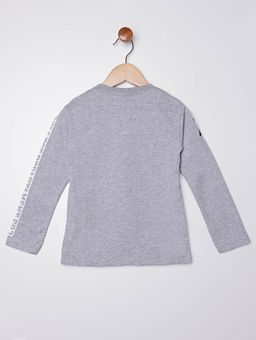 Camiseta-com-Bolso-Manga-Longa-Infantil-para-Menino---Cinza