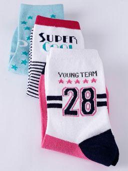 Kit-com-03-Meias-Feminina-Selene-Verde-branco-rosa