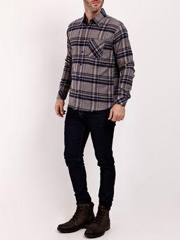 Camisa-Flanela-Manga-Longa-Masculina-Cinza-P