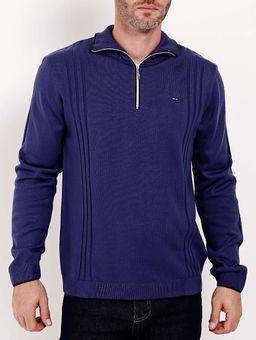 Blusao-Tricot-Gola-Ziper-Masculino-Azul-P