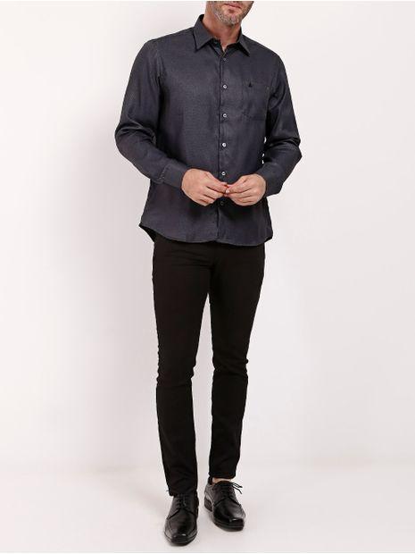Camisa-Manga-Longa-Masculina-Cinza-P