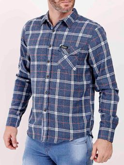 Camisa-Manga-Longa-Gangster-Masculina-Azul-Marinho-P