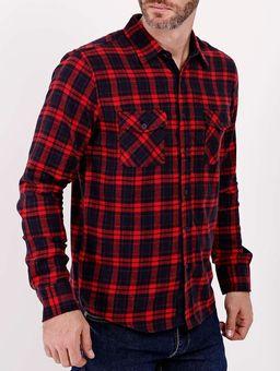 Camisa-Manga-Longa-Gangster-Masculina-Vermelho-P