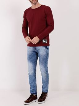Camiseta-Basica-Manga-Longa-Masculina-Bordo-P