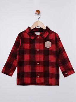 Camisa-Flanela-Xadrez-Infantil-para-Menino---Vermelho