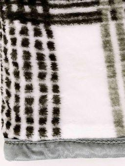 Cobertor-Casal-Corttex-Verde-branco