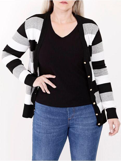 Cardigan-Plus-Size-Feminino-Preto-branco-G2