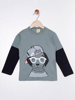 Camiseta-Manga-Longa-com-Estampa-Infantil-Para-Menino---Verde-1