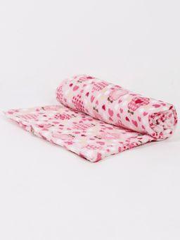 Manta-Corttex-Love-Baby-Infantil-Para-Bebe---Rosa-pink