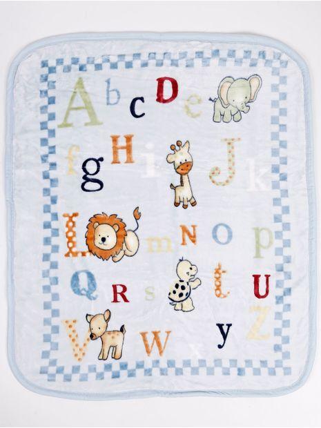 Cobertor-Corttex-Infantil-para-Bebe---Azul-marinho
