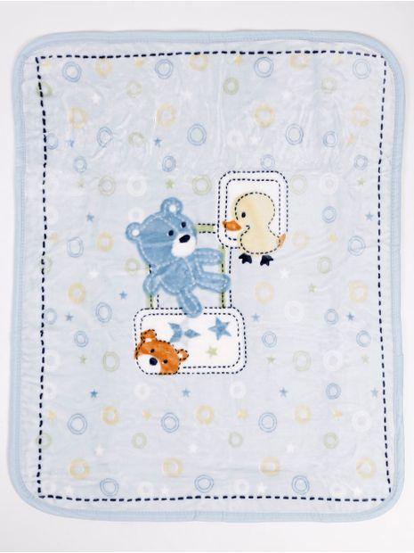Cobertor-Corttex-Infantil-para-Bebe---Azul-amarelo