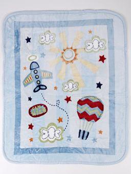 Cobertor-Corttex-Infantil-para-Bebe---Azul-Claro