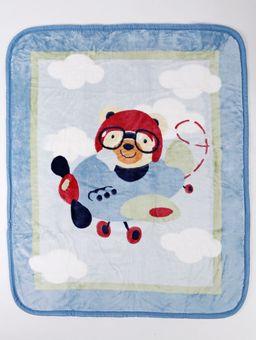 Cobertor-Corttex-Infantil-para-Bebe---Azul-Marinho-vermelho