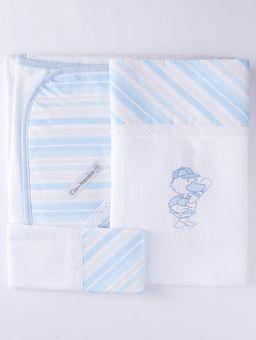 Jogo-de-Banho-com-Bordado-Infantil-Para-Bebe---Azul-cinza