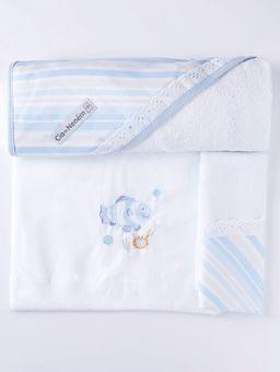 Jogo-de-Banho-com-Bordado-Infantil-Para-Bebe---Azul-branco