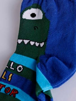 Meia-Infantil-Para-Bebe-Menino---Azul-verde-P