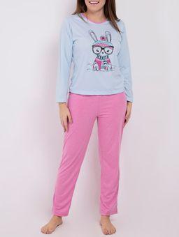 Pijama-Longo-Feminino-Azul-rosa-P