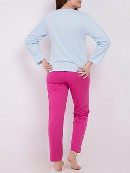 Pijama-Moletom-Feminino-Azul-rosa-Pink-P