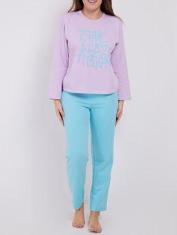 Pijama-Moletom-Feminino-Lilas-azul-P