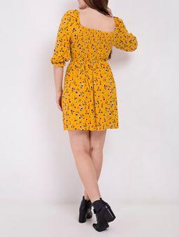 Vestido-Manga-3-4-Autentique-Feminino-Amarelo-P