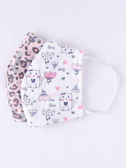 Kit-de-Mascaras-Infantil-Para-Menina---Rose-branco-2-8