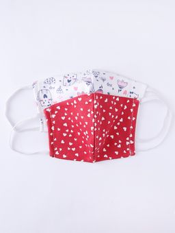 Kit-de-Mascaras-Infantil-Para-Menina---Branco-vermelho-2-8
