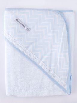 Jogo-de-Banho-com-Bordado-Infantil-Para-Bebe---Azul-azul-branco