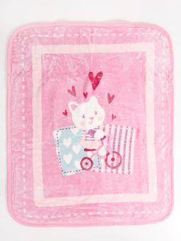 Cobertor-Corttex-Infantil-para-Bebe---Rosa-lilas