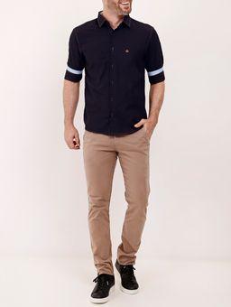Camisa-Manga-3-4-Masculina-Azul-Marinho
