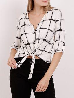Camisa-Manga-3-4-Autentique-Feminina-Off-White-preto
