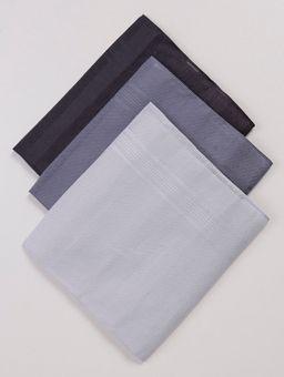 Kit-3-Lencos-de-Bolso-Masculinos-Chumbo-azul