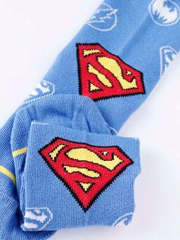 Meia-Justice-League-Juvenil-Para-Menino---Azul-vermelho-2