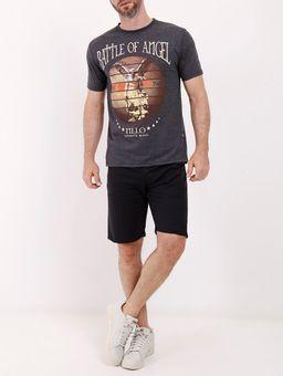 Camiseta-Estampada-Manga-Curta-Masculina-Chumbo