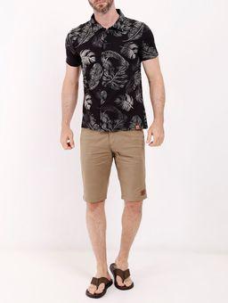 Camisa-Manga-Curta-Estampada-Masculina-Preto-P