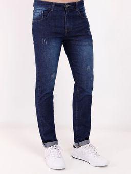 Calca-Jeans-Estonada-Eletron-Masculina-Azul-38