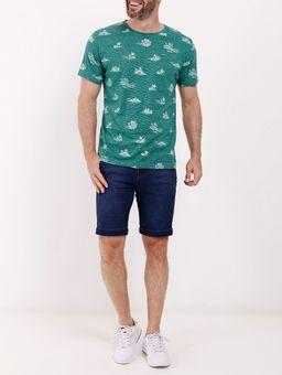 Camiseta-Manga-Curta-Estampada-Masculina-Verde-P